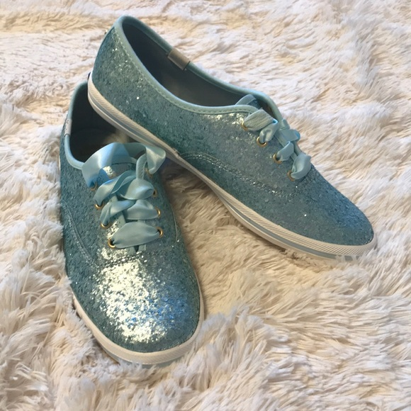 3d08520a34f3 kate spade Shoes | Glitter Keds Size 7 Air Blue | Poshmark